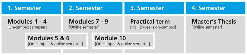 Semester Schedule fpr the Master's Programme on Social Protection