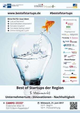 Plakat best of start-ups 2017