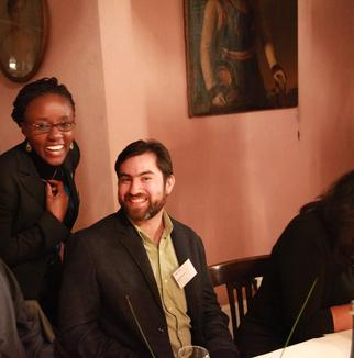Christine Wandolo and Geovanny Giorgana at Burg Lede, September 2015- The farewell dinner was part of a four day International Conference for Alumni all over the world