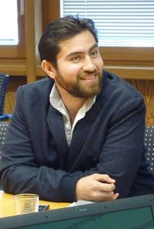 Alumnus Geovanny Giorgana during the first International Alumni Conference, September 2015