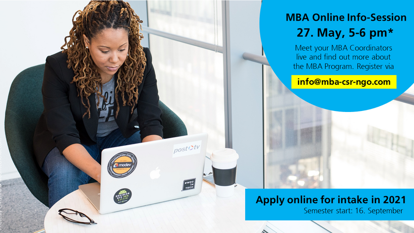 MBA CSR and NGO Management_Online info-session Intake 2021_Website Banner