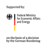 Text Logo: Supported by: Federal Ministry for Economic Affairs and Energy on the basis of a decision by the German Bundestag