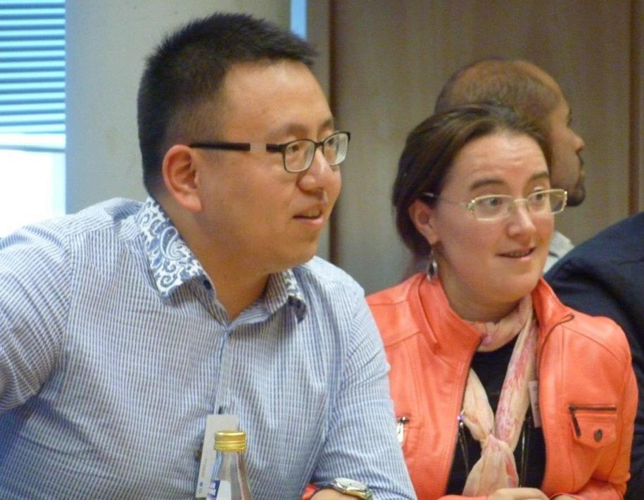 PhD fellow Yu Zhang and NGO CSR Alumna Manuela Raatgerink during the 2015 International Alumni Conference at H-BRS