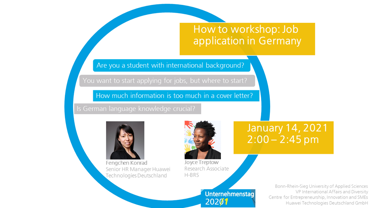 Event announcement international career workshop for students