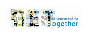 Logo der Reihe Get together - Girls explore technics together